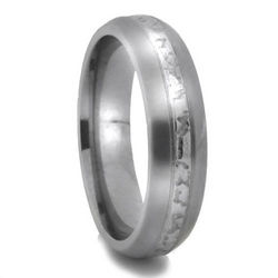 Triton Art Deco Titanium Wedding Band