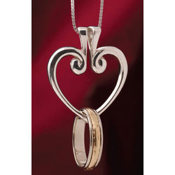 Heart-Shaped Hinged Ring Pendant