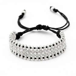 Crystal Macrame Friendship Bracelet