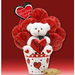 I Love You Bear Cookie Bouquet