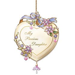 My Precious Daughter Heart-Shaped Christmas Ornament