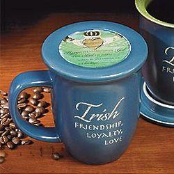 Irish Mug with Verse Coaster Lid