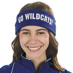 Blue Personalized Headbands