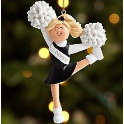 Personalized Blonde Cheerleader Ornament