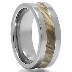 Compound Tungsten Carbide Camouflage Ring