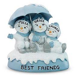 Personalized Original Snow Buddies Three Best Friends Figurine