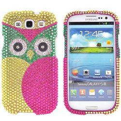 Samsung Galaxy S3 Sparkling Gem Hard Owl Case