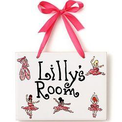 Personalized Ballerina Ceramic Name Plaque