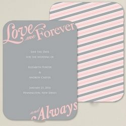 Love Me Forever Save the Date Card