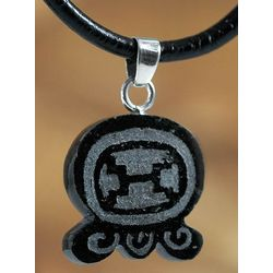 Maya Warrior Strength Handcrafted Jade Pendant Necklace