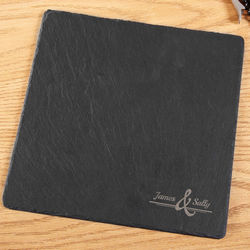 Lasting Impression Engraved Slate Cheese Board