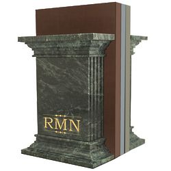 Monogram Green Marble Column Bookends