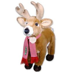 Personalized and Embroidered Christmas Deer Stuffed Animal