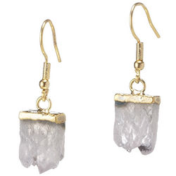 Golden Agate Slice Mini Earrings