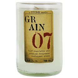 Grain 07 Reclaimed Clear Glass Wine Bottle Vegetable Wax Candle