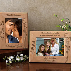 Personalized Make Your Own Flower Wooden Picture Frame