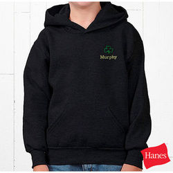 Irish Shamrock Personalized Boys Hooded Sweatshirt