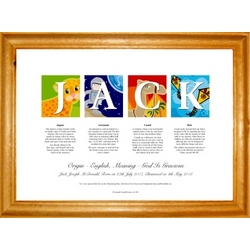 Personalized Name Art Framed Print