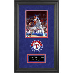 Texas Rangers Deluxe 8x10 Frame with Team Logos and Nameplate
