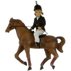 Equestrian Rider on Horse Christmas Ornament
