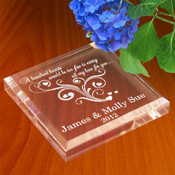 Personalized Hundred Hearts Paperweight