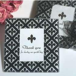 Classic Fleur de Lis Photo Coaster Favors