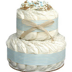 Mini 2 Tier Organic Diaper Cake