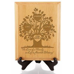 The Life of Our Family Wooden Plaque