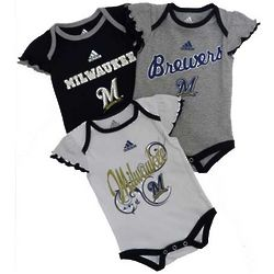Milwaukee Brewers Newborn Girl's Bodysuit Set
