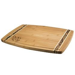 Monogrammed Bamboo Cutting Board with Marbled Borders