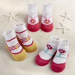 Seaside Sandals Baby Socks Gift Set