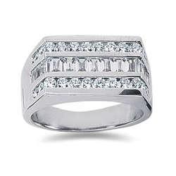 1.60 ctw Men's Diamond Ring in Palladium