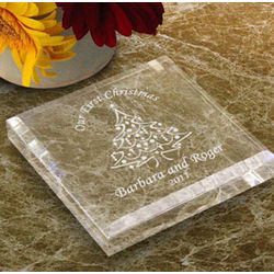 Personalized Christmas Tree Paperweight