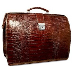 Italian Croco Classic Briefbag