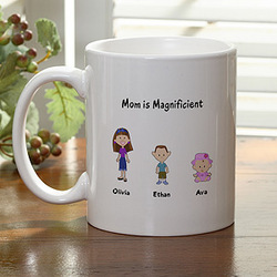 Family Cartoon Characters Personalized Coffee Mug
