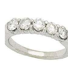 White Five Diamonds Band