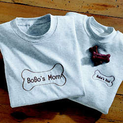 Personalized Dog Bone Sweatshirt-Centered