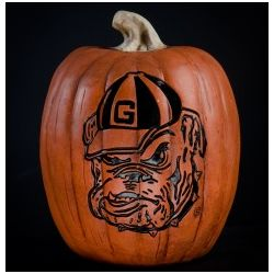 Georgia Bulldogs Large Resin Pumpkin