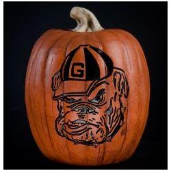 Georgia Bulldogs Large Resin Pumpkin