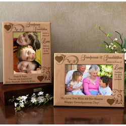Personalized A Chain of Love Wooden Picture Frame