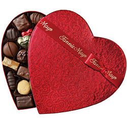 Fannie May 1 lb Assorted Chocolate Heart