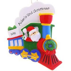 Second Christmas Santa Choo Choo Train Ornament