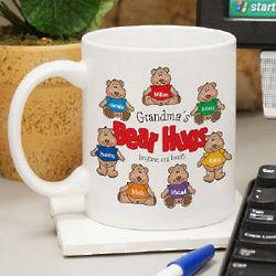 Grandparent's Bear Hugs Personalized Ceramic Coffee Mug
