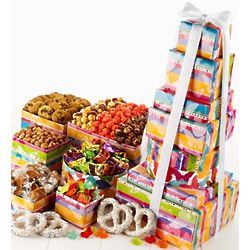 Butterfly Popcorn and Snack 6 Tier Gift Tower