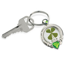 Clover and Claddagh Key Ring
