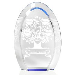 Tree Of Love Blue Halo Plaque