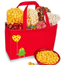 Valentine Monster Snacks and Sweets Tote Bag