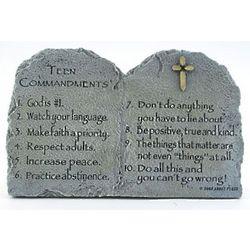 Teen Commandments Tablet Sculpture