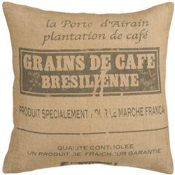 Grains de Cafe Jute Decorative Pillow