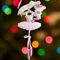 Personalized Pink Tutu Ballerina Ornament